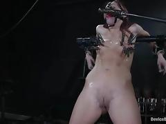 Slim Smokie Flame gets tortured and toyed in BDSM video