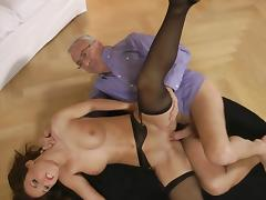Denise fuck with an old man for his cash