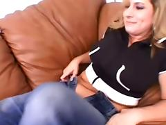 Chubby Girl Takes off Her Jeans for Hot and Messy Lesbian Sex