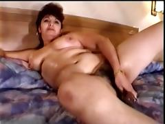 Mature Amateur Whore With Big Natural Tits Masturbating With Dildo