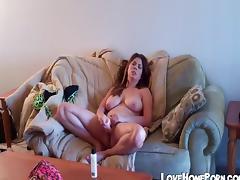 Busty girl Katarina masturbates