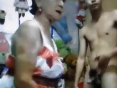 Asian Old and Young, 18 19 Teens, Amateur, Asian, Granny, Mature