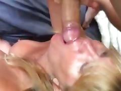 Getting my big cock and balls sucked and licked