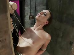 Katie Jordin gets tied to a column and humiliated