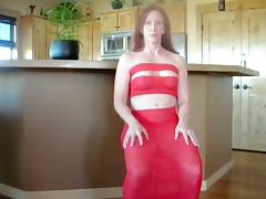 Redhead milf enjoys ardent anal sex in the kitchen