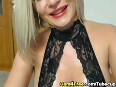 HOT Blonde Masturbates and Squirts