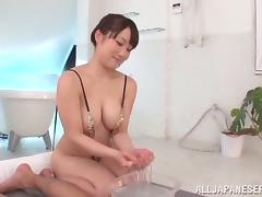 Some hot and passionate slippery sex with Mao Kurata