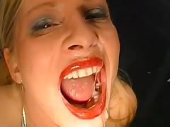 Bukkake, Blonde, Blowjob, Bukkake, Cum in Mouth, Facial
