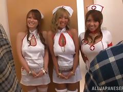 Horny Asian Nurses Fucking Some Horny And Lucky Patients