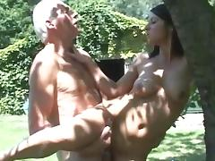 Old and Young, Blowjob, Brunette, Facial, Group, Orgy