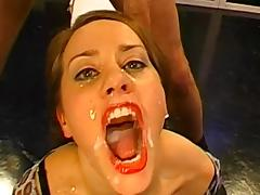 Babes Chris and Magdalena are swallowing big cum loads