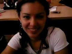 Beautiful russian gitrl. BJ in the office. Oral creampie