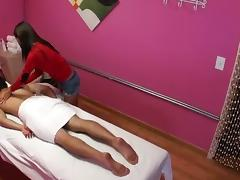 Hot hardcore massage action from this chick who may not be licensed