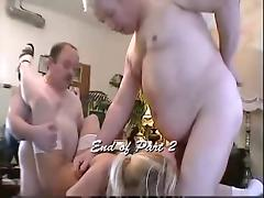 chubby daddy and his friend fuck hot woman