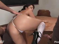 Cute Satine Phoenix Gets An Extremely Wet Pussy Playing With Two Boys porn video