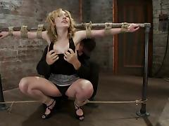 Lily Labeau gets hung up and enjoys having a toy in her snatch