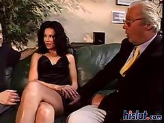 Catherine is a MILF with a penchant for old cocks