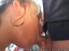 German busty blonde girlfriend loves the early fuck