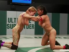 Catfight, Catfight, Lesbian, Sport, Wrestling, Fight