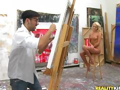 A Horny Artist Paints Ivana Sugar Naked And He Can't Help Fucking Her