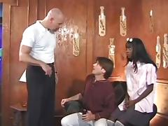 Darksome Cutie Gives A Pair White Boyz A Creamy Surprise