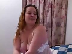 Plump April takes a bbc