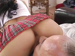 Old and Young, Blowjob, Couple, Old Man, POV, Riding