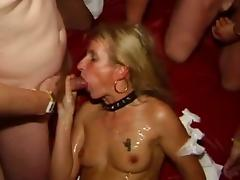 Bukkake Gangbang sperm orgie