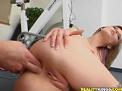 Tarra White has her holes drilled by a big cock
