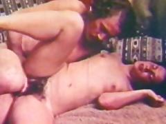 Classic scene with hardcore slender brunette