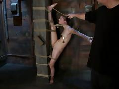 Flexible Sensi Pearl gets hog tied and whipped