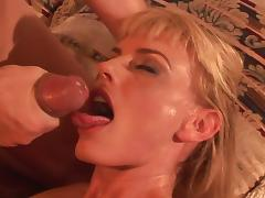 All, Bedroom, Blonde, Blowjob, Couple, Facial