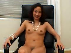 Mature Asian woman gets fucked by nerdy White dude