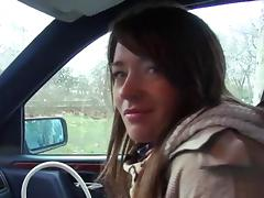 Car, Blowjob, Brunette, Car, European, Hairy