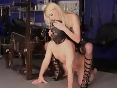 Mistress fucks her slave porn video