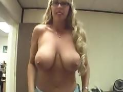 Golden-Haired big breasted mother I'd like to fuck sprayed