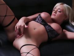 Solo scene with busty blonde Cami Parker