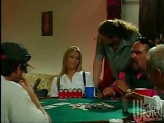 Horny milf wins a huge cock in a poker game