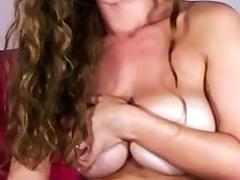 Squirting masturbation with a dildo