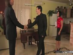PinkoHD XXX video: Spanked Secretary