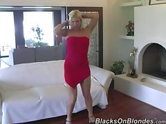 Horny White Girl Gets Her Shaved Pussy Fucked by Big Black Cock