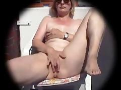 Balcony, Amateur, Masturbation, Mature, Wife, Balcony