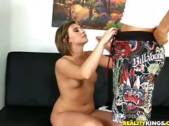 Horny Kinzie Parker gets banged by a fake painter
