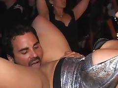 Club, Blowjob, Brunette, Club, Cum in Mouth, Party