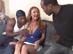 Sweet Janet Mason Gets Gangbanged Hard By Several Black Guys