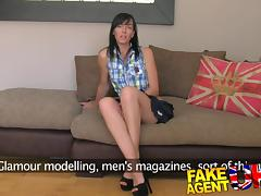 FakeAgentUK: Dirty talking MILF takes it in both holes