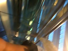 Upskirt Escalator 64 - Big Round Booty Under Her Mini Skirt porn video