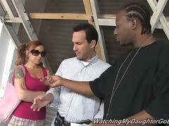 Scarlett Pain Wants her Family to Watch Her Fuck that Black Guy off the Street!
