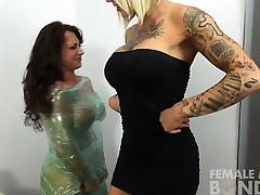 Wrapped Bondage, BDSM, Blonde, Brunette, Fetish, HD