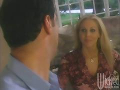 Romantic dinner with sweet Julia Ann ends up so divine porn video